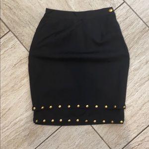 Versace black skirt with metal detail